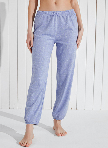 Penti Violet Dotted Pantolon  Kadın  Pijama Altı  Ana Kumaş Cotton 53,00 Ana Kumaş Polyester 47,00   Mor